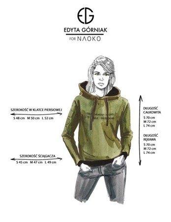 BLUZA EVERY MOMENT EDYTA GÓRNIAK FOR NAOKO KHAKI (MOMENT)